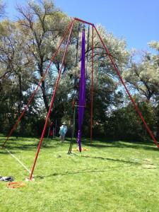 Freestanding Aerial Swingset Rig
