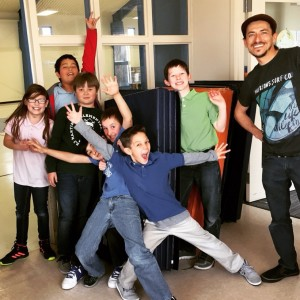 Youth participants from Circus Comes to School at EJ Martinez, 2016