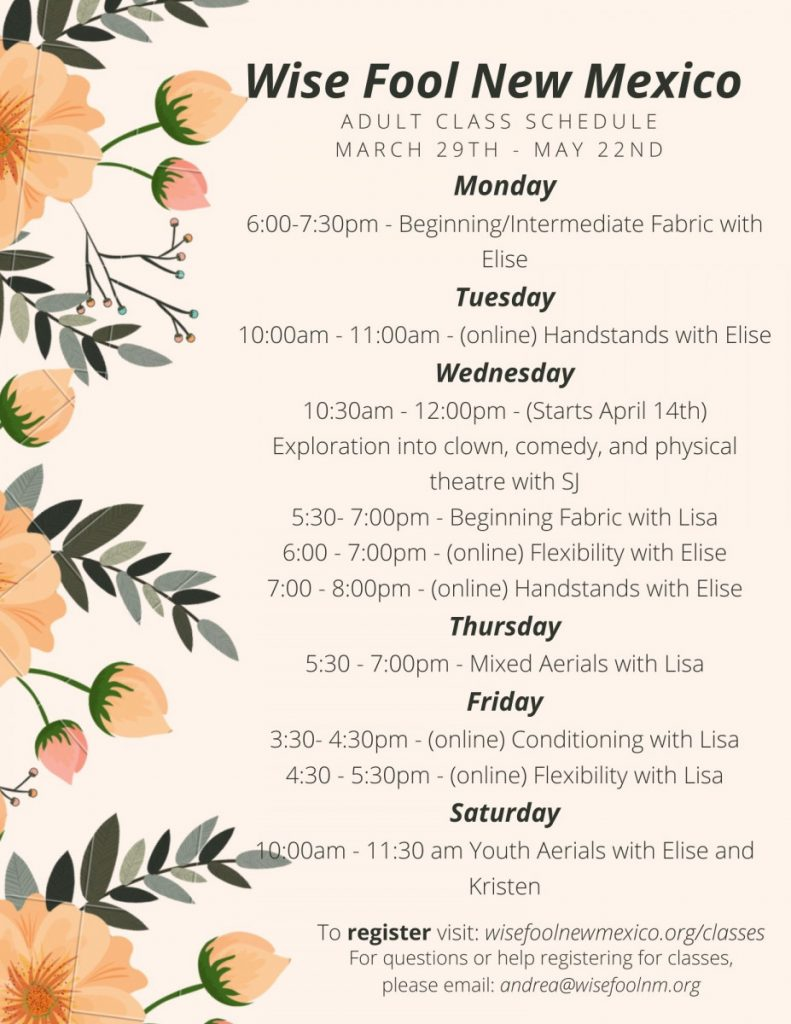 Adult Class Schedule(1)