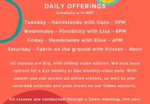 ONline Class Schedule 4:23