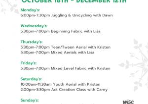 class schedule(4)